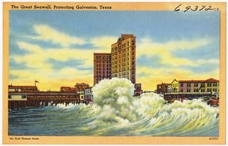 The Great Seawall, protecting Galveston, Texas