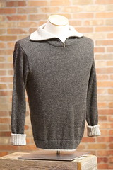 Men's Zip Alpaca Sweater