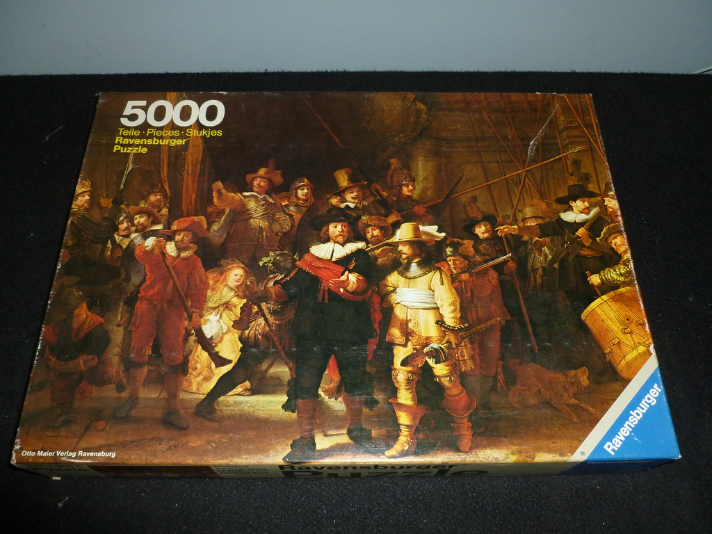 5000 piece puzzle the nightwatch by rembrandt. Black Bedroom Furniture Sets. Home Design Ideas