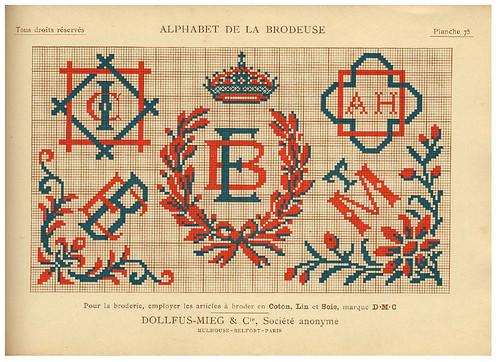 016-Alphabet de la Brodeuse1932- Thérèse de Dillmont