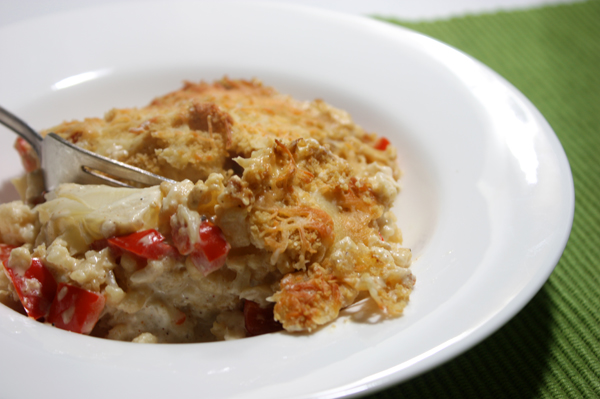 Cauliflower + Sweet Pepper Casserole