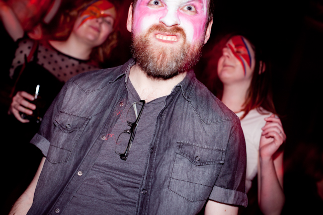 James from überlin in Bowie facepaint
