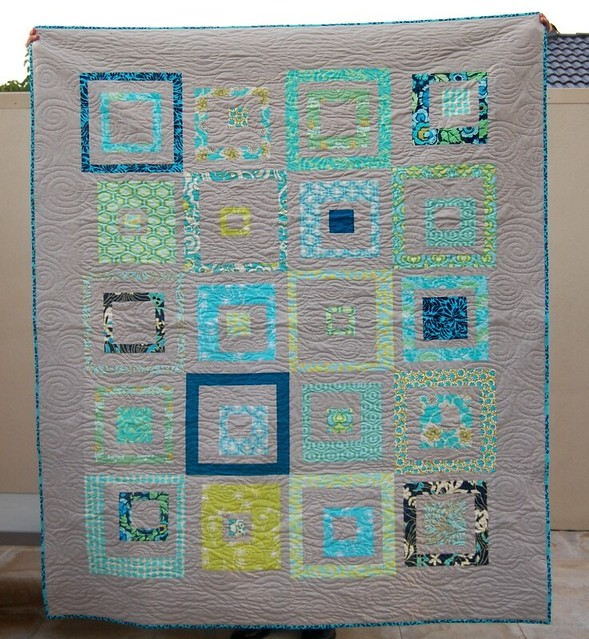 """There's a Square in There"" Quilt - no sashing"