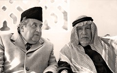 الشيخ عبد الله عدوان مع الاميري - الرياض - كانون الثاني 1990