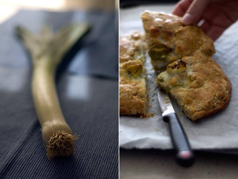 Galette de alho francês com avelãs // Leek Hazelnut Galette