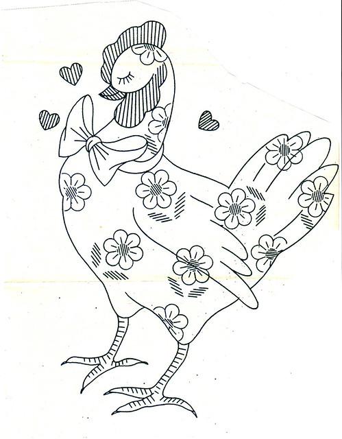 daisy chicken pattern
