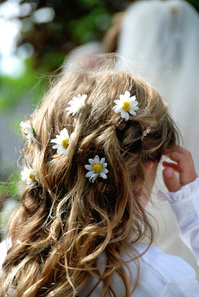 wedding bridal party hairstyle 5