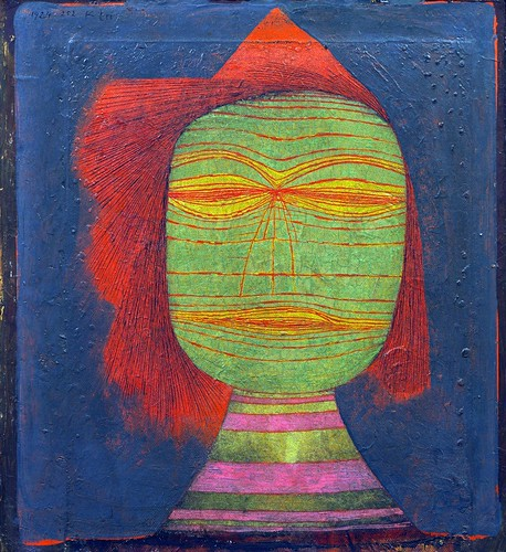 Paul Klee - Actor's Mask [1924] by Gandalf's Gallery