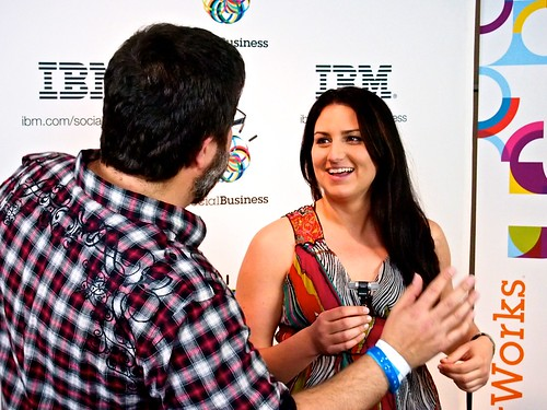 Social Media Club Community Manager Jessica Murray Laughs with Founder Chris Heuer