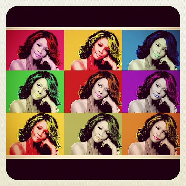 Whitney Houston #WhitneyHouston #popart #photography #art