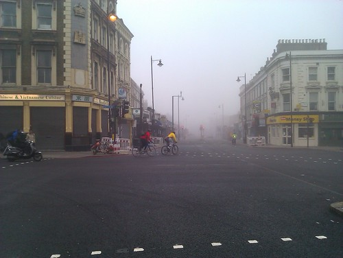 Dalston in the fog