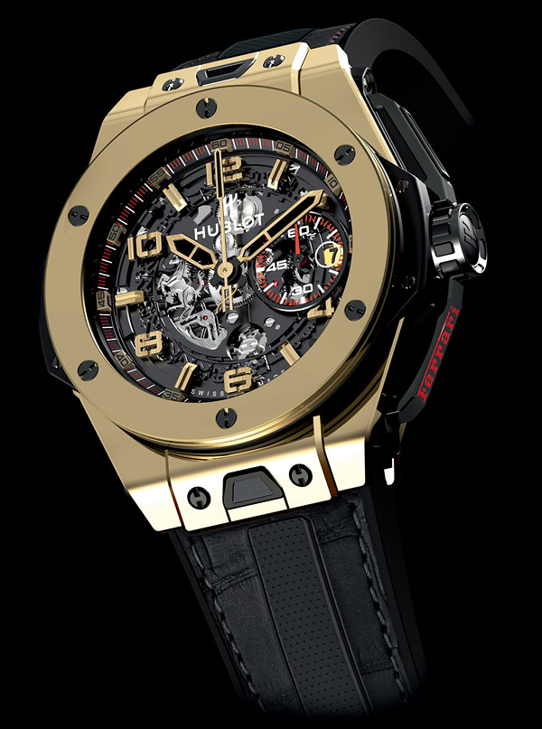 montres hublot big bang ferrrari magic gold titanium. Black Bedroom Furniture Sets. Home Design Ideas