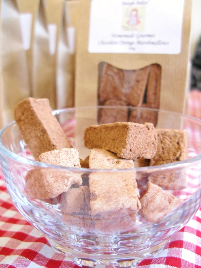 Chocolate marshmallows by Burgh Bakes at The Market, April 28th 2012   Emma Lamb