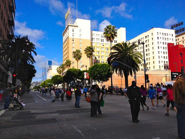 Marathoners in Hollywood
