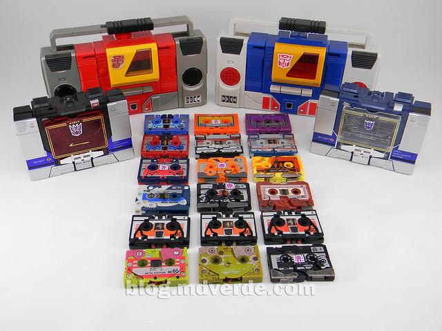 Transformers Nightstalker - G1 Encore - modo alterno vs casetes vs grabadoras