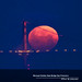 Moonset Over Golden Gate Bridge San Francisco by davidyuweb