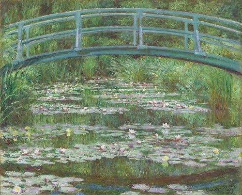 Claude Monet - The Japanese Footbridge [1899] by Gandalf's Gallery