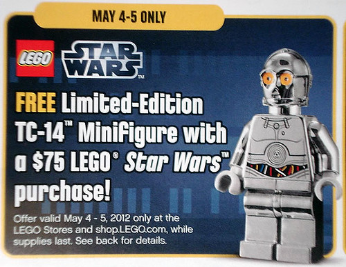 Exclusive TC-14 Minifigure with $75 LEGO S@H Purchase May 4-5th