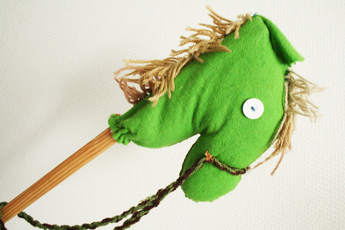 My handmade hobby horse from childhood