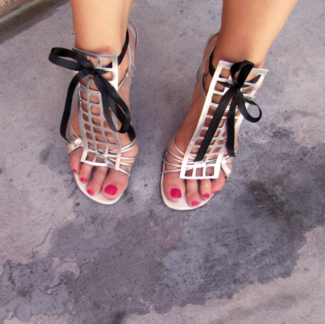 silver sandals diy shoes
