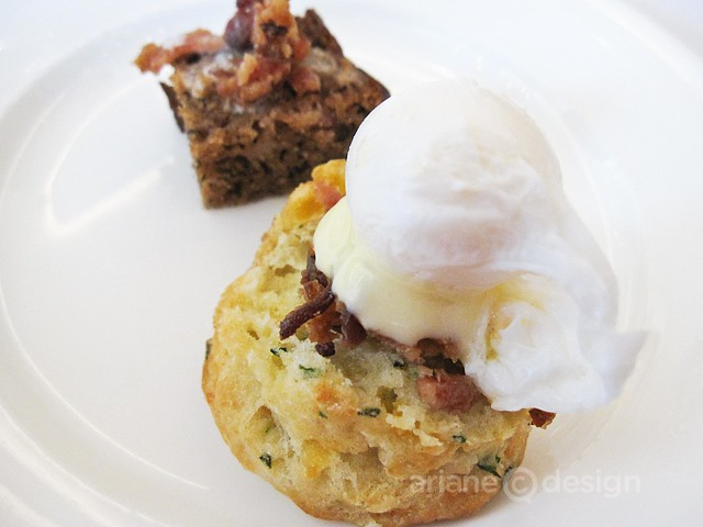 Quail Egg and corned beef eggs benny