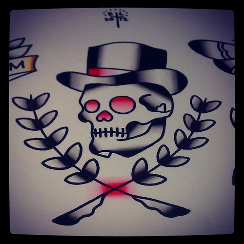 Back > Pix For > Traditional Skull Tattoo Flash