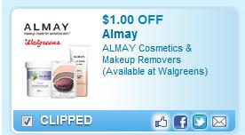 Almay Cosmetics & Makeup Removers Coupon