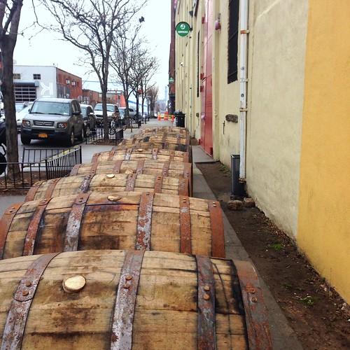 Brooklyn Brewery, Williamsburg, Rolling Out The Barrels