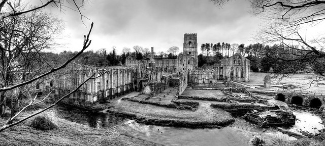Fountains Abbey - Tonemapped Panoramic