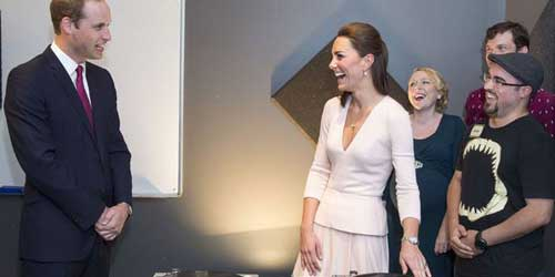 The Duke and Duchess visits an Adelaide music studio in Australian