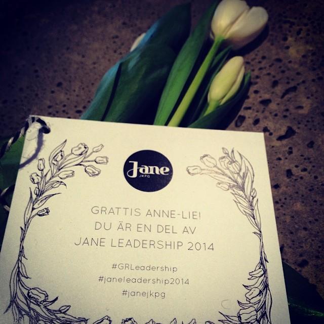 YES! Jag kom med i Jane Leadership 2014! Föreläsningar, workshops, matchmaking/mentorträff, nätverk,skräddarsydd utbildning på Hyper Island, studieresa till Amsterdam mm. Det här blir så pepp och fantastiskt kul! #janejkpg #GRLeadershop #janeledarshop2014