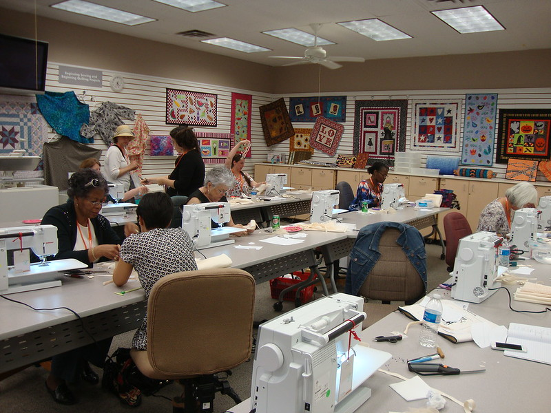 at the bra class with Megan Summerville