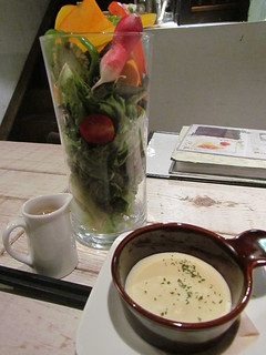 Ain Soph - Spring vegetable salad and soup