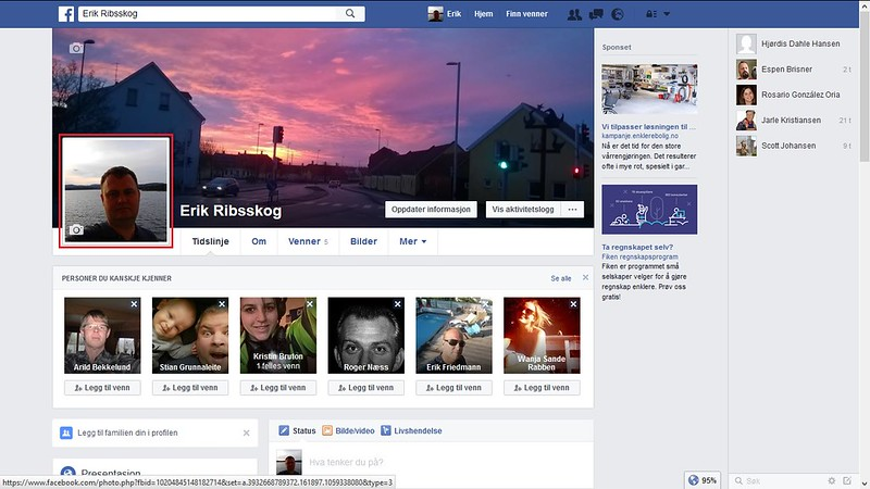 byttet bilde facebook