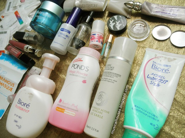 Empties Skincare Makeup Cleanser Moisturizer Eyeshadow Lipgloss Lipstick