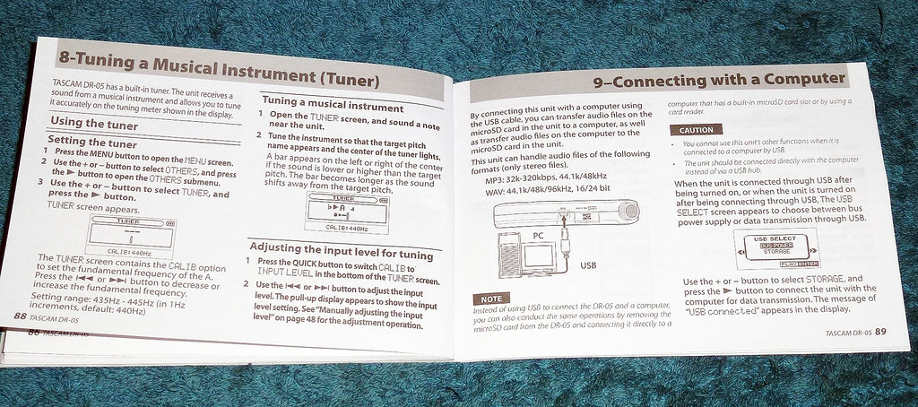 Tascam DR-05 Linear PCM Recorder Instructions (38) | Flickr