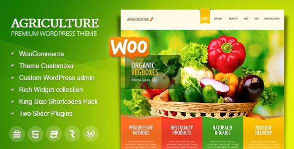 Agriculture v1.6.4 – All-in-One WooCommerce WP Theme