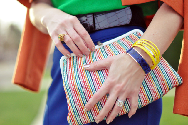vintage striped clutch- braceletes