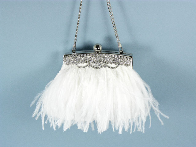 feather evening bag-wedding clutch bag with feathers