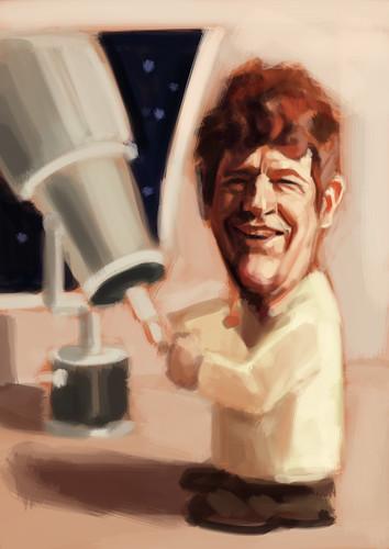astrologist digital caricature - 2