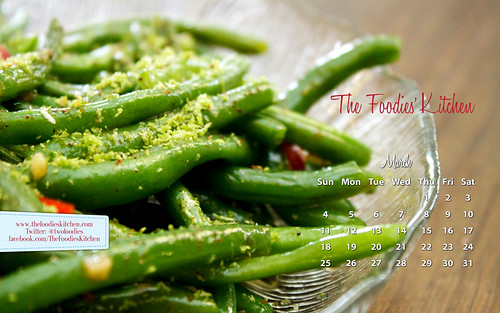 Foodies Freebie: March 2012 Desktop Calendar