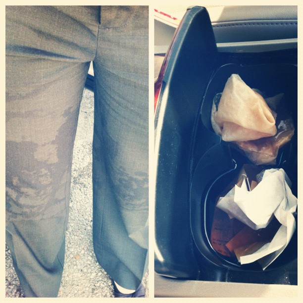 I give #up on today!!! #marchphotoaday #day1 just spilt a huge cup of tea all over my car & myself :(