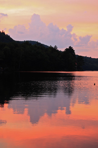 sunset usa lake water newhampshire winona