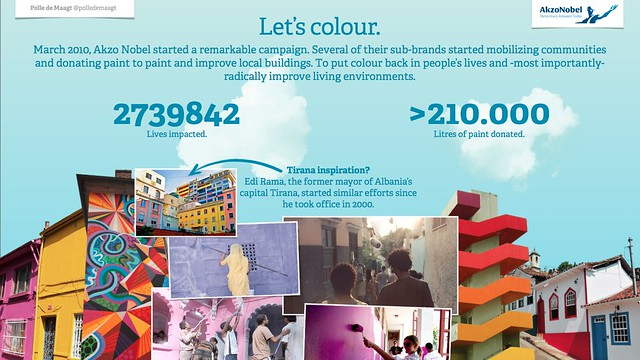 Akzo Nobel's Let's colour campaign