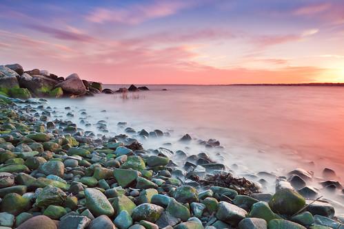 ocean sunset sky usa texture beach water clouds island coast harbor day gulf cloudy fort dusk connecticut tide low shoreline newengland pebbles atlantic east shore milford seashore trumbull gulfbeach gulfpond