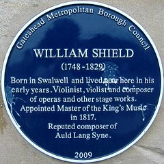 Photo of William Shield blue plaque