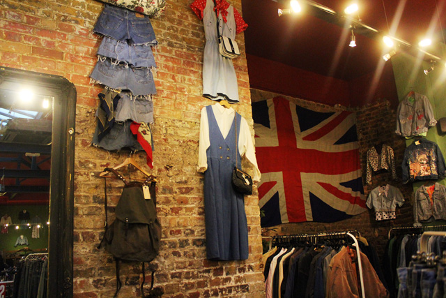 blitz vintage department store shoreditch london denim