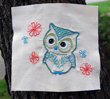 Vintage-Inspired Owl Embroidery