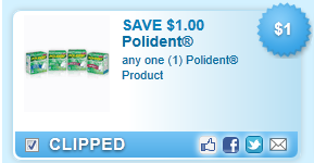 Polident Product  Coupon