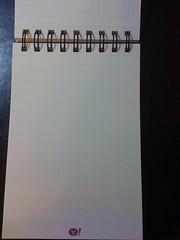 Yahoo 送的筆記本內頁